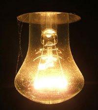 Неисправный электрический светильник у домохозяйки