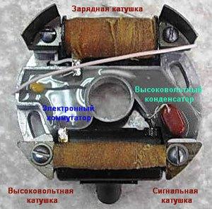 """""""Электрическая схема электронного блока зажигания бензопилы"""""""