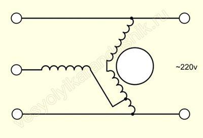 Фазосдвигающие элементы для трёхфазного электродвигателя