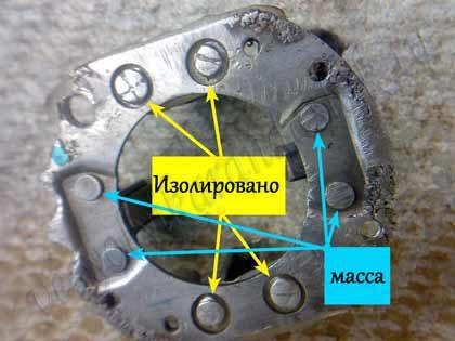 Щёточный узел стартера Jubana после ремонта