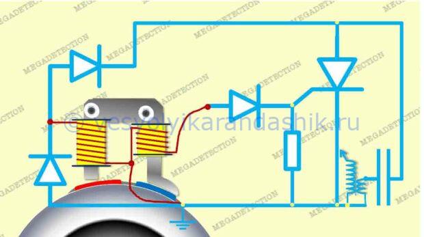 Электрическая схема зажигания бензопилы