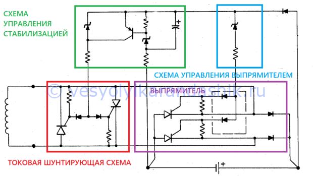 Схема реле регулятора на мотоблок